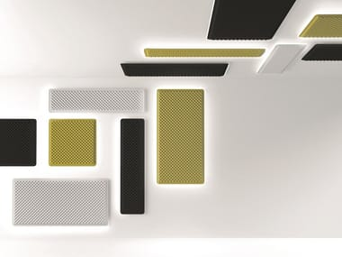 Fabric Decorative acoustic panel with Integrated Lighting EGGBOARD WALL/ CEILING