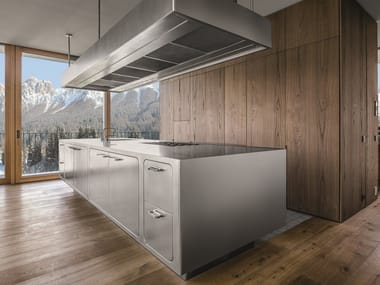 Stainless steel kitchen with island EGO 24