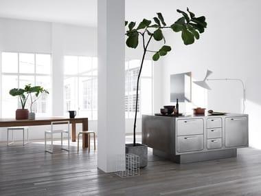 Custom stainless steel kitchen EGO