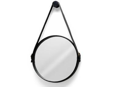 Specchio rotondo con cornice da parete EGO STUD
