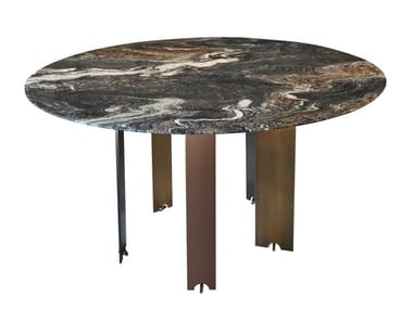 Round marble dining table EKIS | Marble table