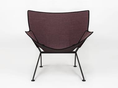 Fabric garden armchair with armrests EL SANTO FUORI