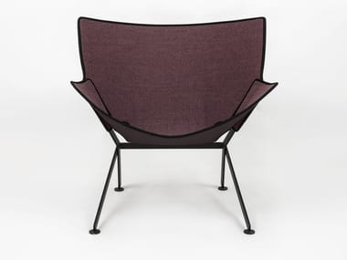 Fabric garden armchair with armrests EL SANTO FUORI