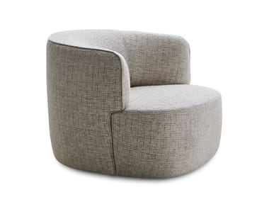 Fabric easy chair with armrests ELAIN