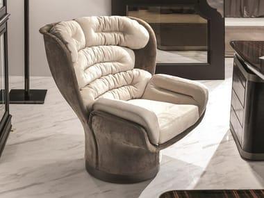 Swivel leather armchair ELDA OFFICE