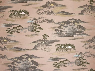 Jacquard cotton upholstery fabric ELECTRIC DREAMS