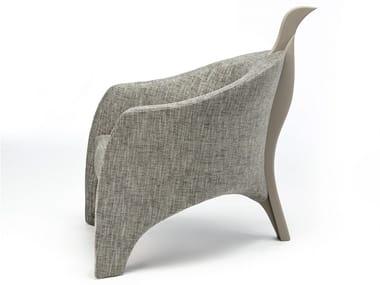 Upholstered fabric armchair HAWK | Fabric armchair