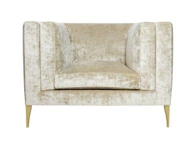 Velvet armchair with armrests ELEGANCE   Armchair