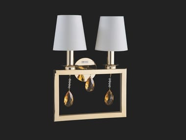 Lampada da parete a luce indiretta con cristalli ELEGANCE | Lampada da parete con cristalli
