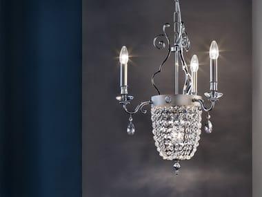 Crystal pendant lamp ELEGANTIA 3+1
