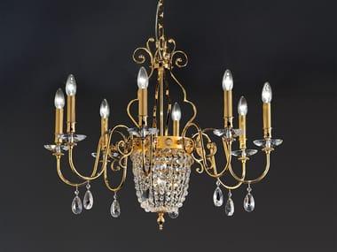 Direct light metal chandelier ELEGANTIA 8+1 / 12+1