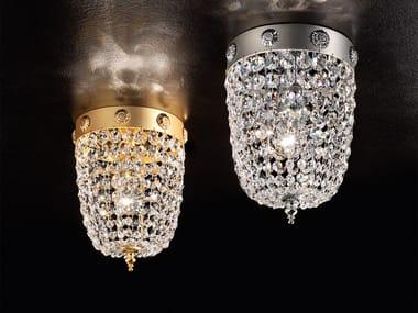 Direct light crystal ceiling lamp ELEGANTIA PL1