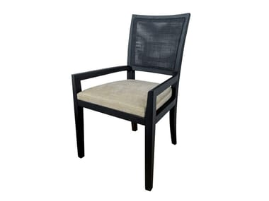 Upholstered fabric chair with armrests ELEM 2 | Chair with armrests