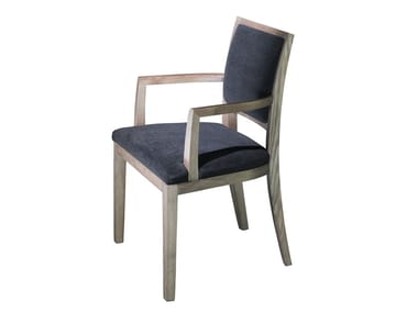 Upholstered fabric chair with armrests ELEM 3 | Chair with armrests
