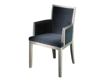 Upholstered fabric chair with armrests ELEM 4 | Chair with armrests