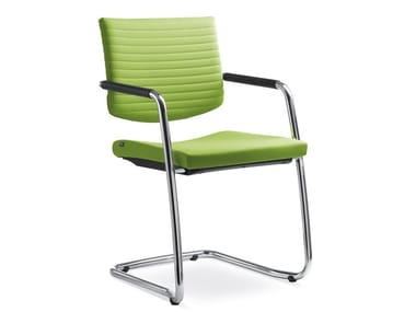 Cantilever chair with armrests ELEMENT 444 KZ