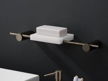 Wall-mounted stainless steel and acrylic stone soap dish ELEMENTA | Soap dish