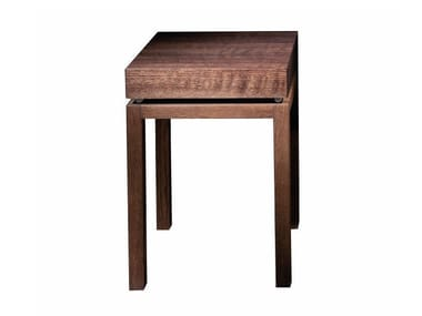 Square solid wood bedside table ELEMENTARE - 101 TNT