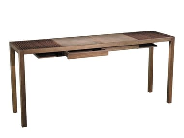 Rectangular melamine-faced chipboard console table ELEMENTARE - 704 TE