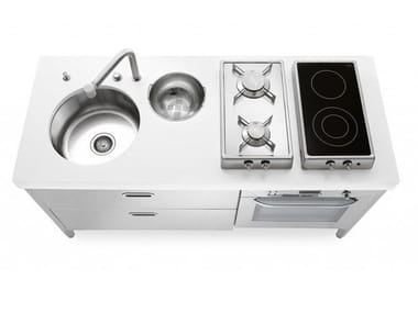 Linear steel Mini kitchen ELEMENTI CUCINA 160