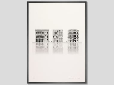 Architectural collage fine art print ELEVATION CA' D'OMBRE