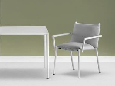 Upholstered garden chair with armrests ELEVEN   Upholstered chair