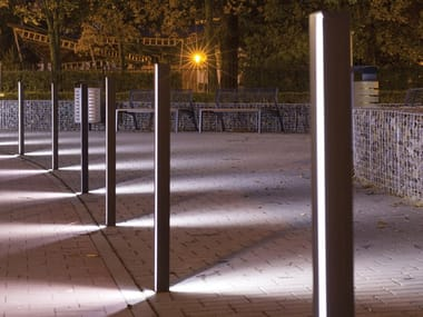Fixed steel bollard post with built-in light ELIAS | Bollard post with built-in light