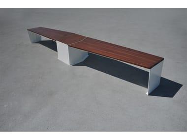 Panchina in legno e acciaio ELICA