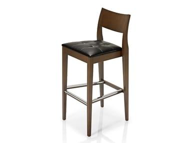 Cadeira de pele com apoio de pés ELIE | Cadeira
