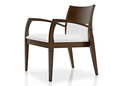 Cadeira lounge de tecido com braços ELIE | Cadeira lounge com braços