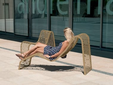 Steel outdoor chair ELINIUM | Outdoor chair