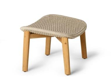 Tricord® and teak footstool ELIO | Footstool