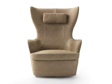 Swivel armchair with headrest ELISABETH