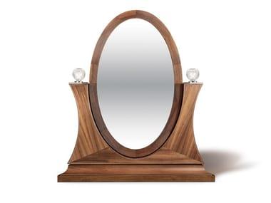 Deco tilting freestanding oval mirror ELISABETH