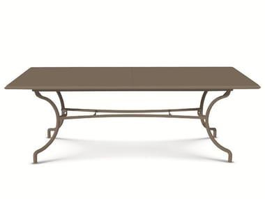 Rectangular steel garden table ELISIR | Extending table