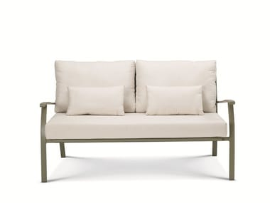 2 seater galvanized steel garden sofa ELISIR | Garden sofa