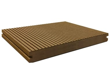 Engineered wood outdoor floor tiles / decking ELITE 197