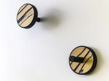 Couple of wall hangers made of precious wood ELITE EBANO