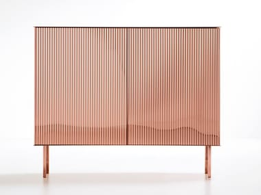 Metal sideboard with doors ELIZABETH
