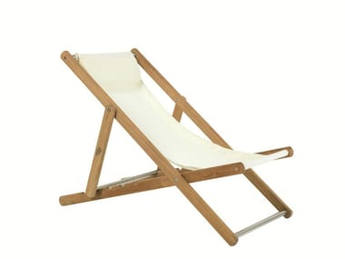 Recliner synthetic fabric deck chair ELLE | Deck chair