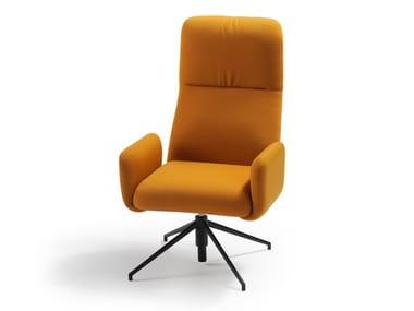 Swivel high-back fabric executive chair ELLE | Executive chair
