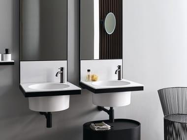 Round single wall-mounted ceramic washbasin ELLE | Round washbasin