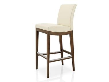 Cadeira de pele com apoio de pés ELLEN   Cadeira