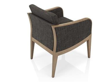 Cadeira lounge de tecido com braços ELLEN   Cadeira lounge