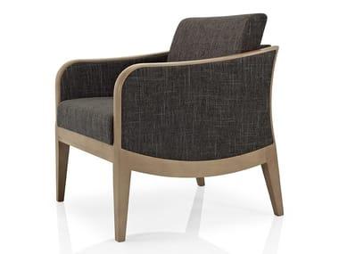 Cadeira lounge de tecido com braços ELLEN   Cadeira lounge de tecido