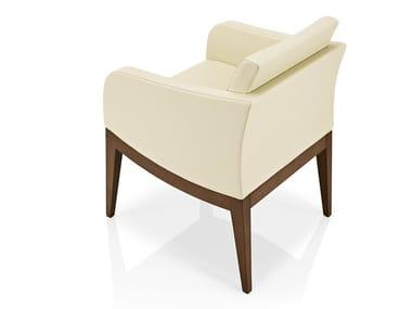 Cadeira lounge de pele com braços ELLEN   Cadeira lounge de pele