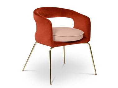 Fabric chair with armrests ELLEN   Chair