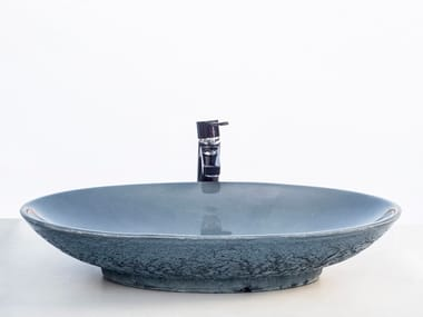 Oval concrete washbasin ELLIPTIC