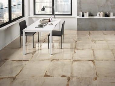 Pavimento in gres porcellanato effetto pietra LASCAUX ELLISON STUDIO