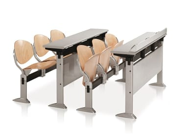 Beech beam seating with tip-up seats ELLISSE | Beech beam seating